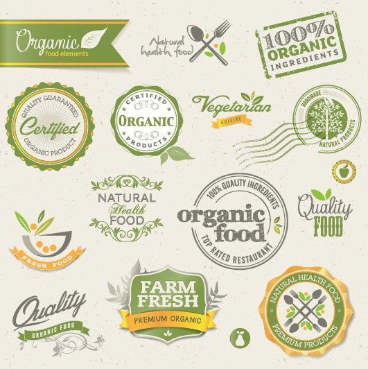 Green and Yellow Vintage Labels
