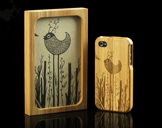 Laser Engraved Bamboo Wood Cases