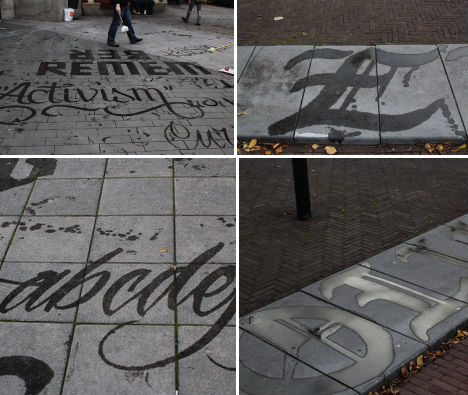 Public Typography Experiments by Francois Chastanet