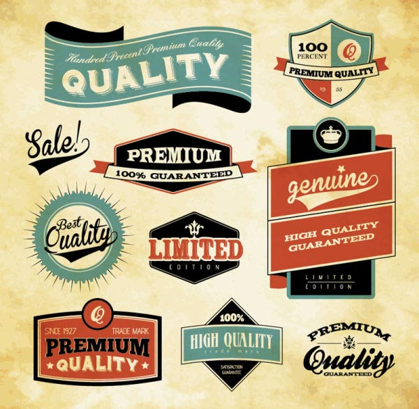 Retro Vector Label Set