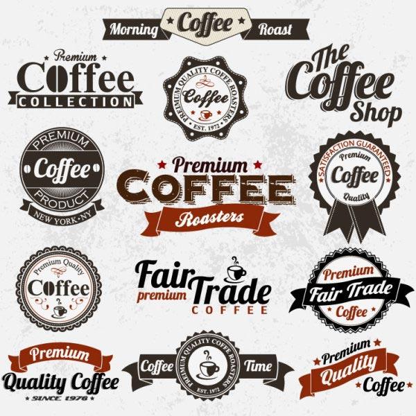 Vintage Coffee Labels and Design Elements