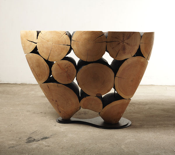 Amazing wooden tables by Lee Jae-Hyo