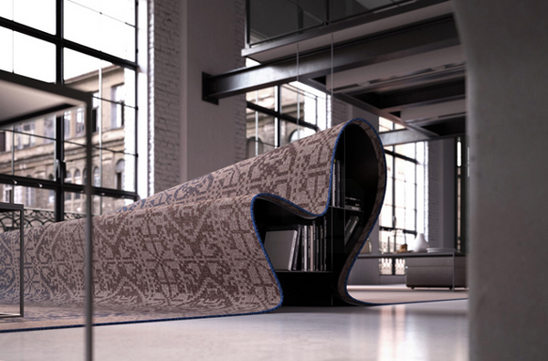 Gorgeous carpet furniture by Alessandro Isola