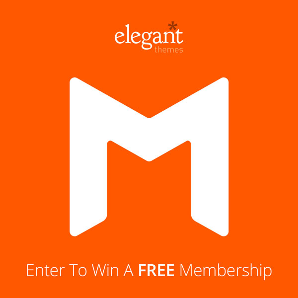 Giveaway: get 2 Developer subscriptions for your visitors from Elegant Themes