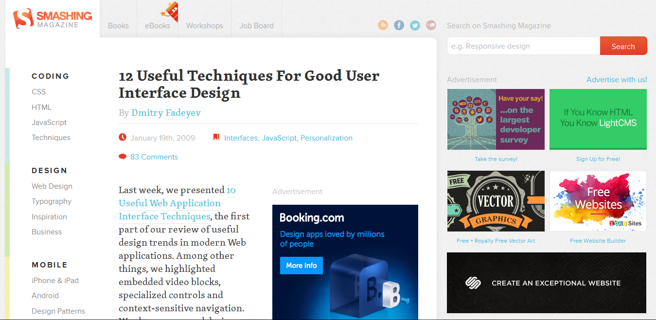 12 Useful Techniques For Good User Interface Design