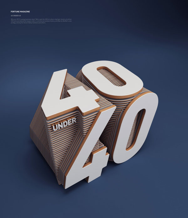 3D typography by Rizon Parein