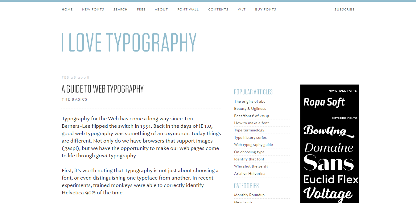 A Guide to Web Typography