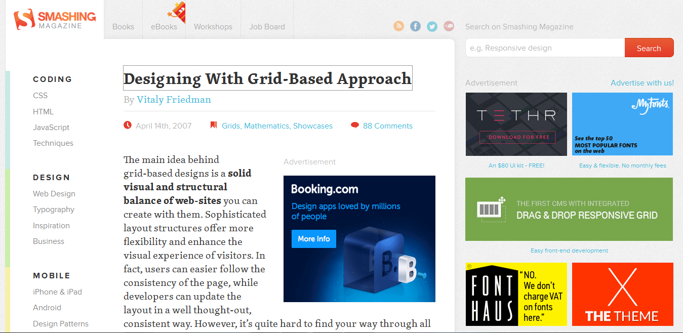 Designing With a Grid Based Approach
