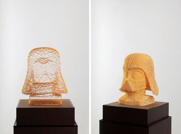 Paper sculptures that disappear