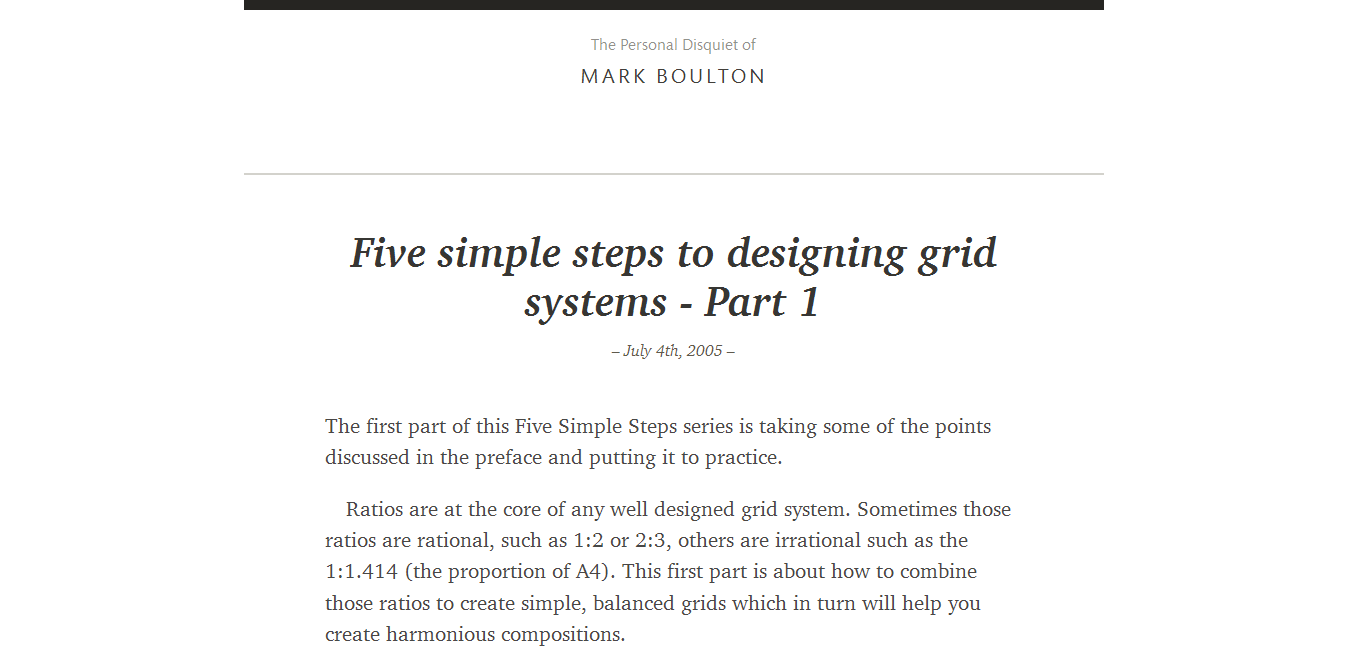 Five simple steps to designing grid systems