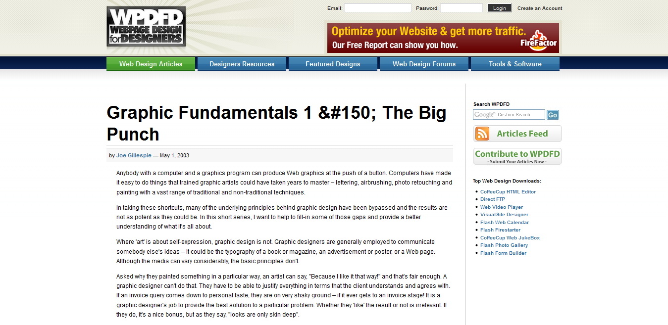 Graphic Fundamentals, 1. The Big Punch