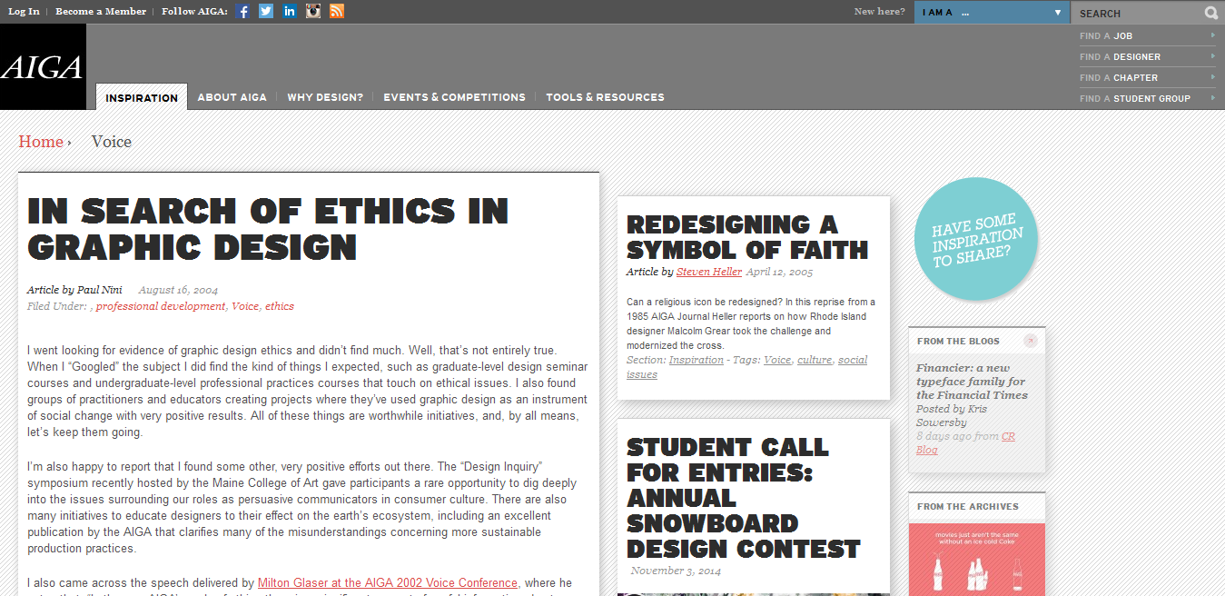 In Search of Ethics in Graphic Design