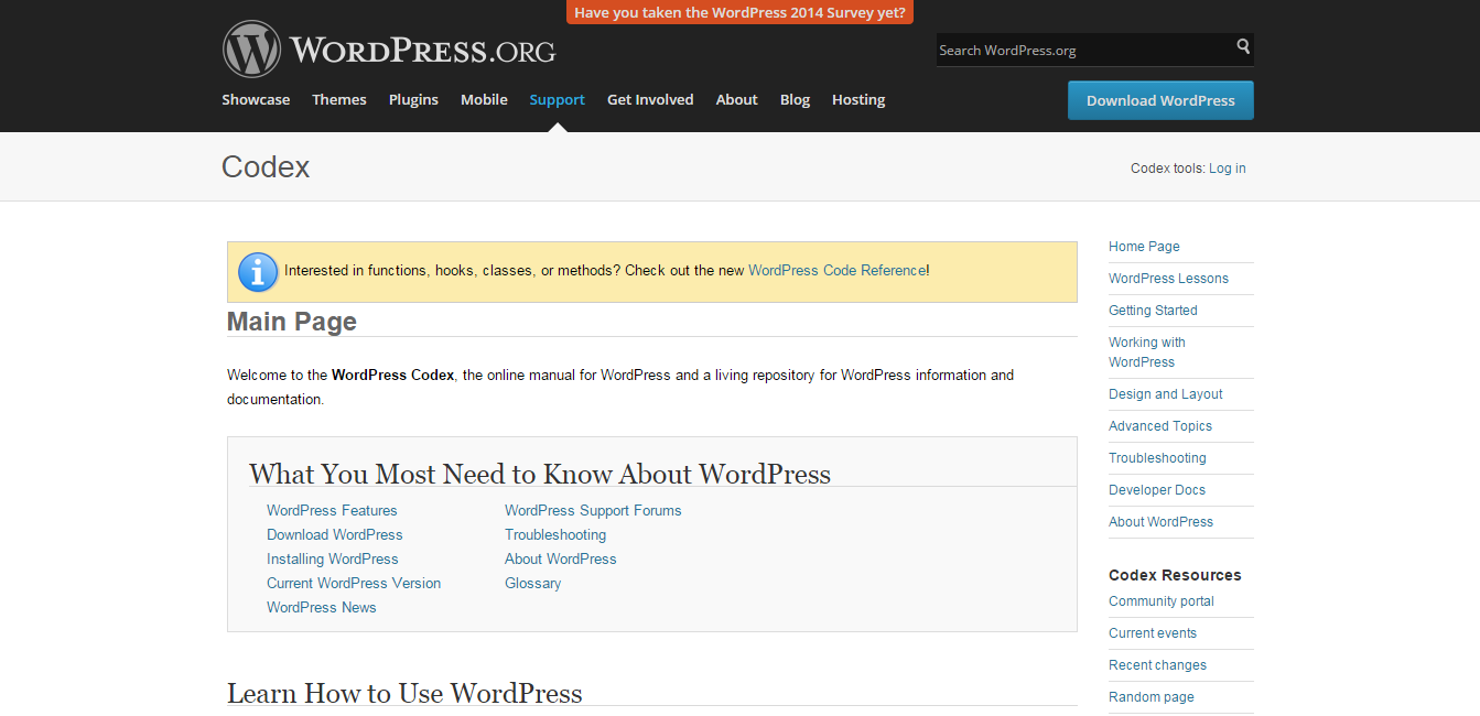 Main Page « WordPress Codex