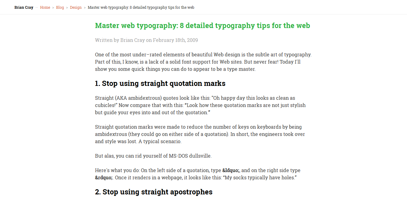 Master Web Typography