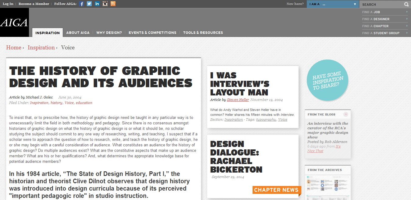 The History of Graphic Design and Its Audiences