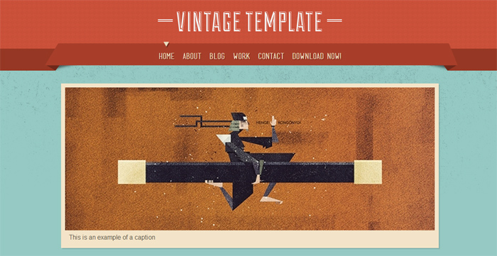 Vintage HTML Template