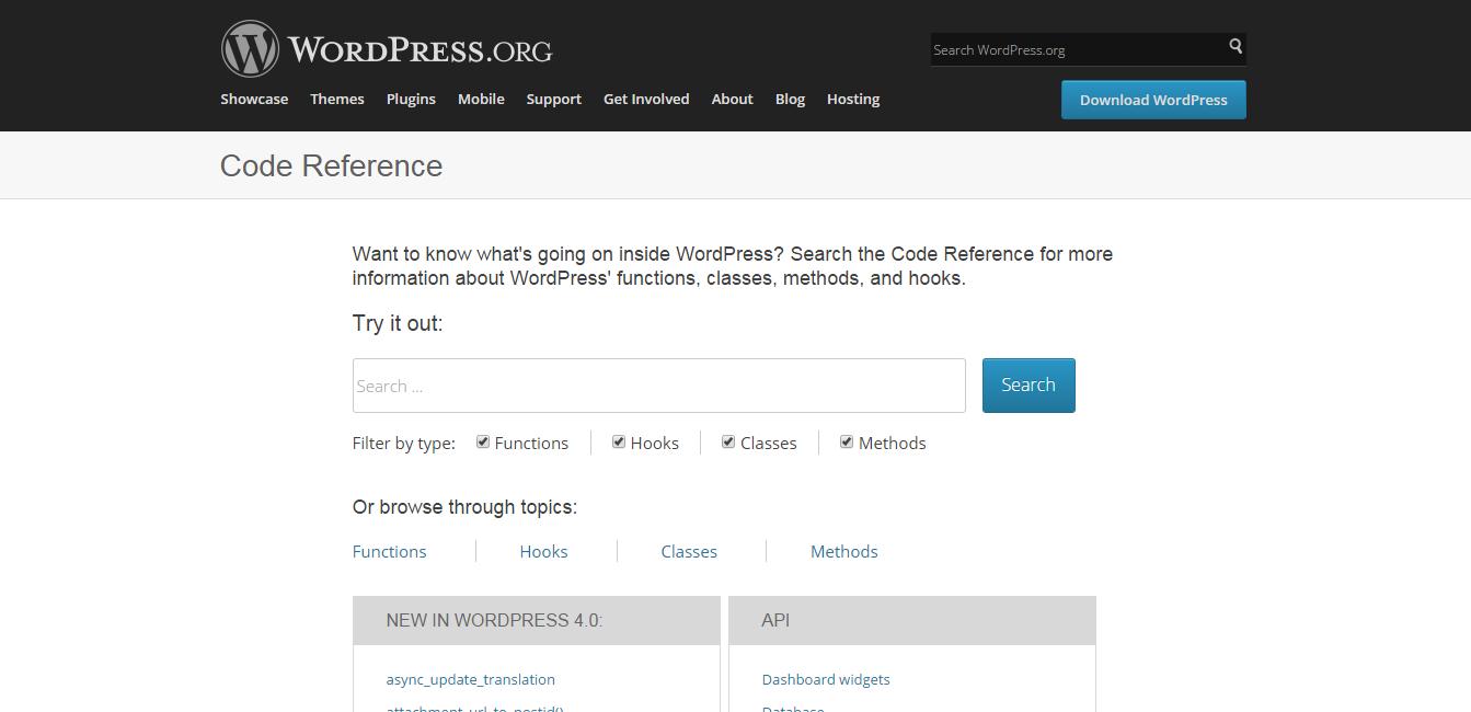 WordPress › Reference   WordPress Developer Resources