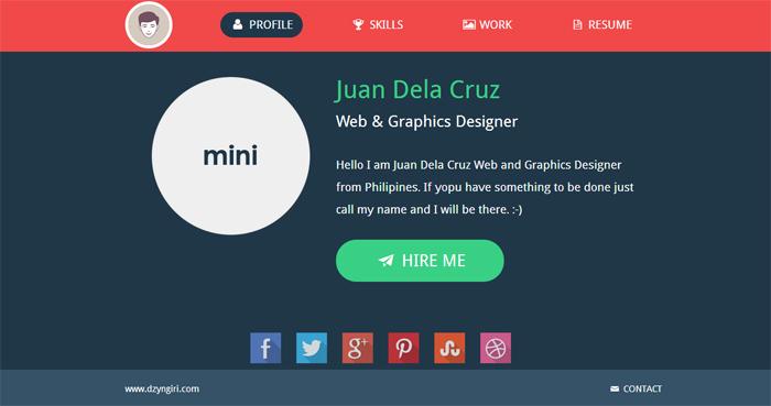 flat-design-mini-portfolio
