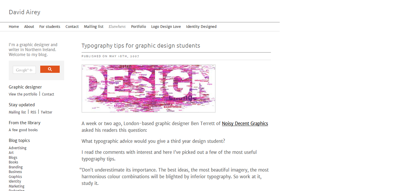typography tips for graphic design students