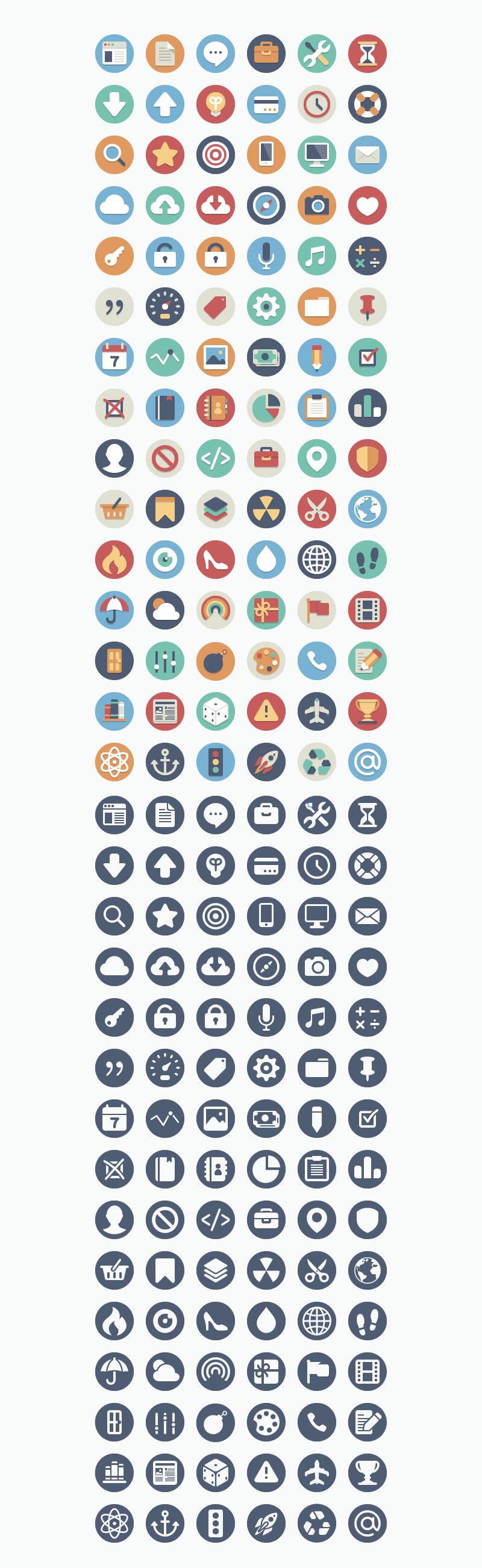 180 Free Beautiful Flat Icons