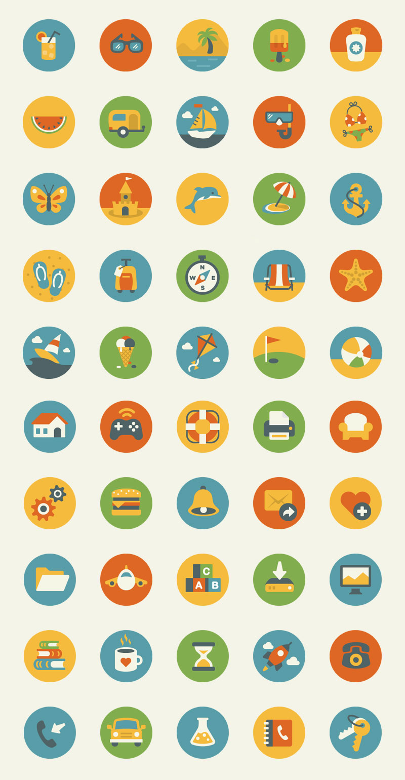 10 awesome free flat icons packs