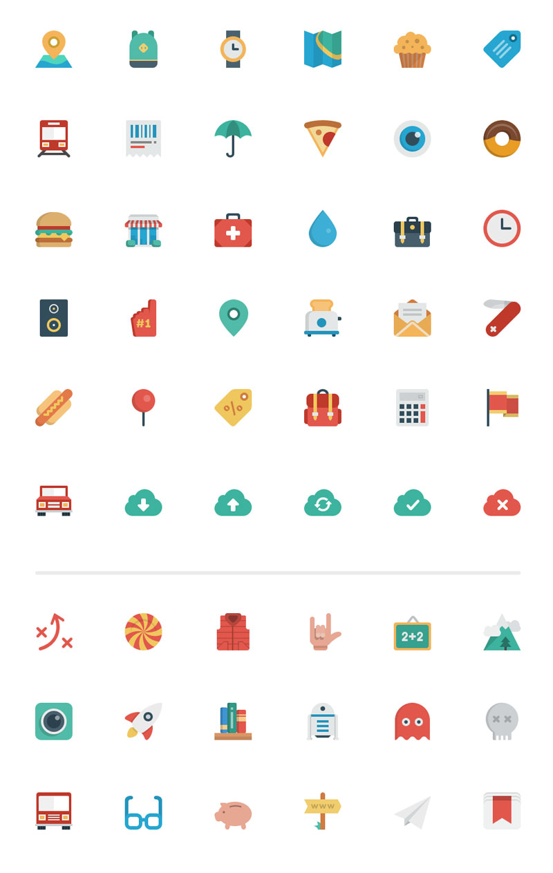 Smallicons — 54 Flat Icons