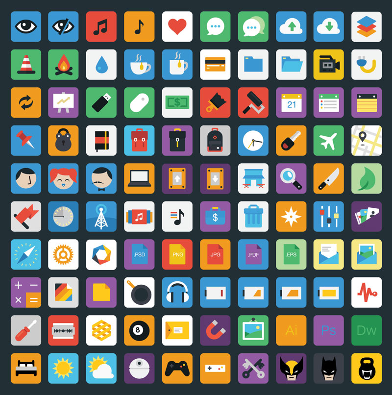 Stylicons — 100 Royalty Free Flat Icons
