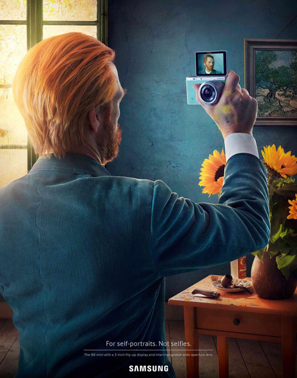 Samsung ad that claims it will take your selfies to the next level