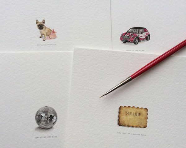 Paintings for ants: tiny art by Lorraine Loots