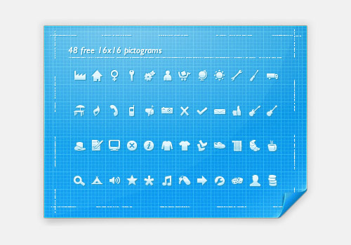 48 Free 16px Pictograms