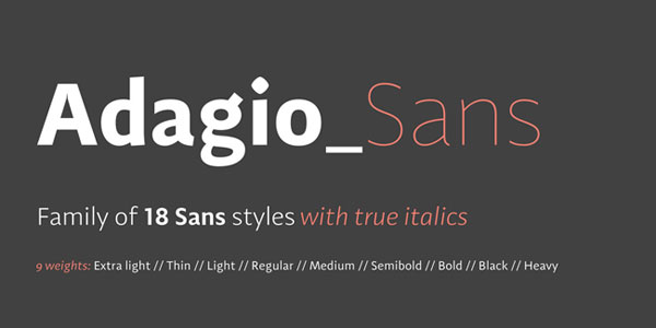 Get Adagio Sans Family for only $20