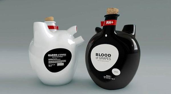 Blood of Grapes Wine Bottles