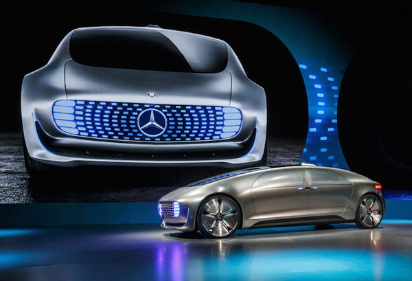 A self-driving car concept unveiled by Mercedes-Benz