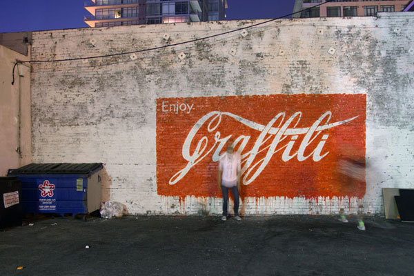 Ernest Zacharevic developed a unique style in the world of street art