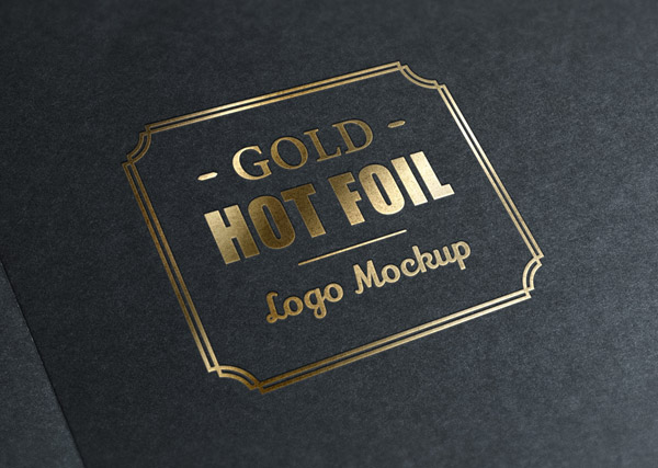 Gold Stamp Logo Mockup