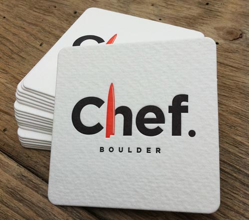Letterpress Business Card Chef Boulder