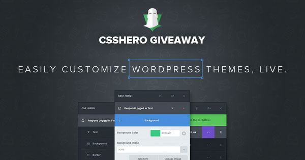 Giveaway: start customizing your WordPress themes live with CSS Hero