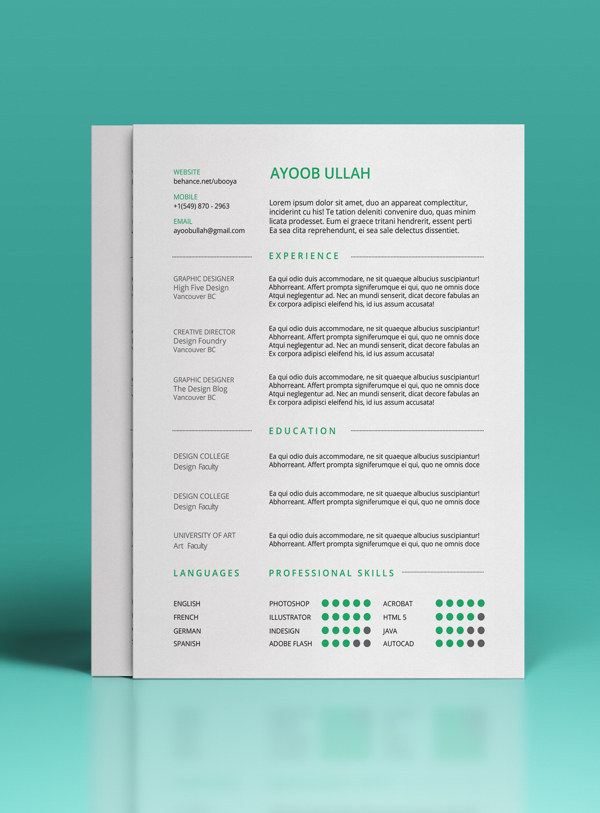 15 beautiful resume designs for your inspiration