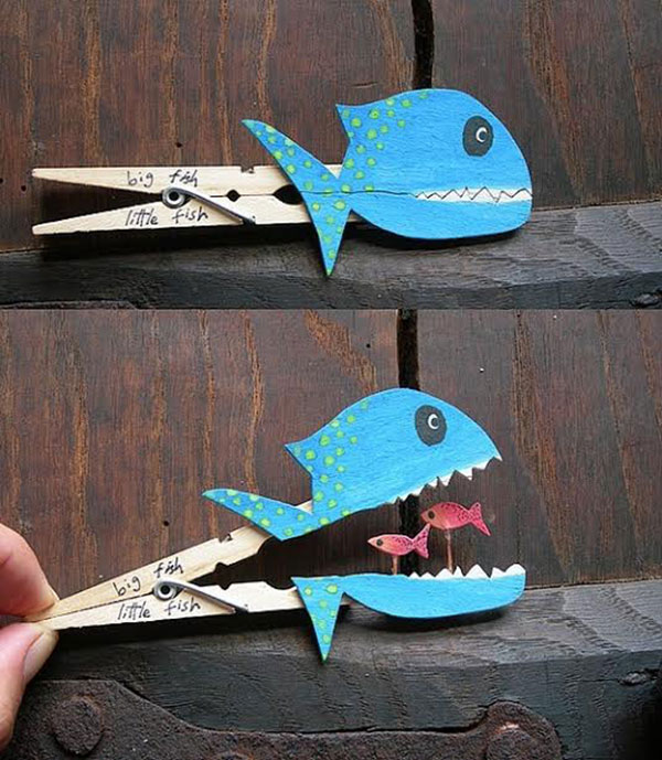 Clever clothespin crafts