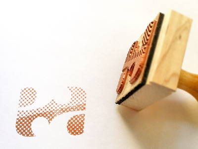 EA Ambigram Stamp