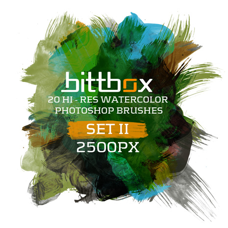 Hi-Res Watercolor Brushes by Bittbox