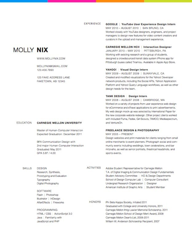 10 molly nix view this amazing resume design