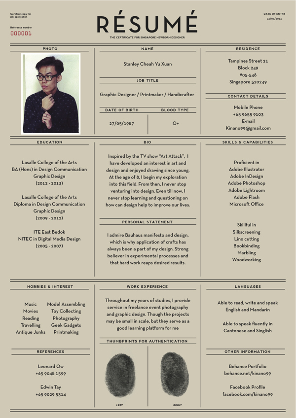 15 beautiful resume designs for your inspiration - Designer Daily ...