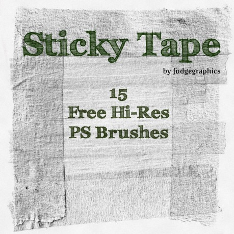 Sticky Tape Brushes by FudgeGraphics