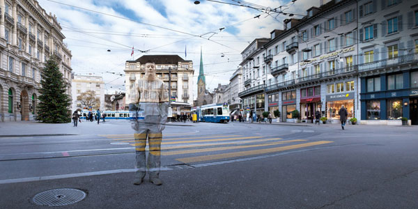 Hidden in plain sight: a Swiss advertising campaign inspired by Liu Bolin
