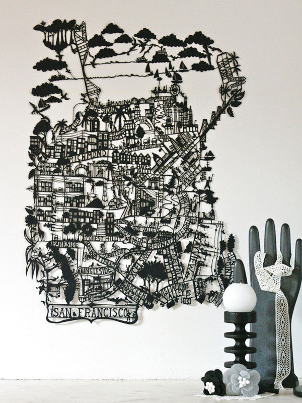 Maps Of Famous Cities Inspired By Paper Cuts