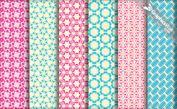 A collection of vintage and retro patterns for Photoshop