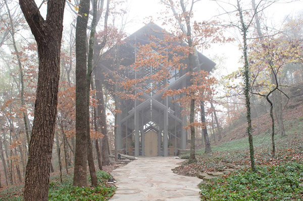 A modern chapel in the Ozarks mountains