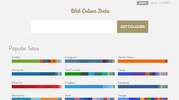 web-colour-data