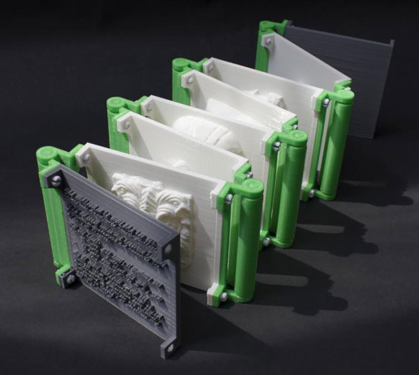 3D printed books by Tim Burtonwood